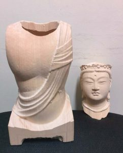 Reproduction-of-Dainichi-Nyorai-in-The-University-Art-Museum,-Tokyo-University-of-the-Arts